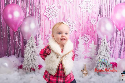 Winter photography backdrop cake smash background