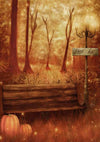 Halloween photography backdrop forest background