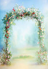 Sky blue wedding photo flower backdrop