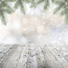 Christmas decorations Bokeh Pine branches background-cheap vinyl backdrop fabric background photography