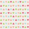 Retro children pattern with colorful hearts Valentines backdrop