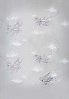 Retro gray backdrop airplane pattern for child