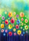 Spring colorful flower backdrop for children-cheap vinyl backdrop fabric background photography