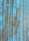 Sky blue Wood Rubber Floor Mat