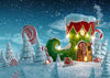 Gingerbread house backdrop winter background