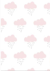 Pink clouds pattern backdrop for child photography