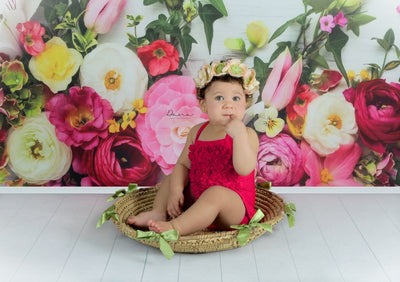 Easter flower backdrop spring photography-cheap vinyl backdrop fabric background photography