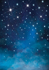Night blue sky and stars background for children photography