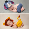 Knitting soft hat baby clothing cute animal newborn photography props - whosedrop