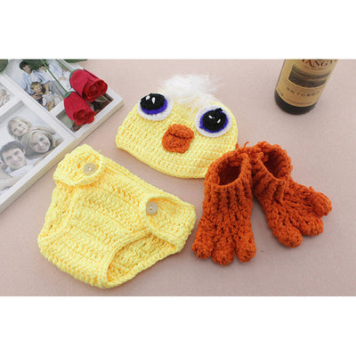 Knitting soft hat baby clothing cute animal newborn photography props
