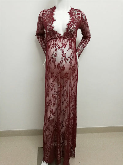 Maternity photography clothing Lace Maternity dress fancy shooting photo