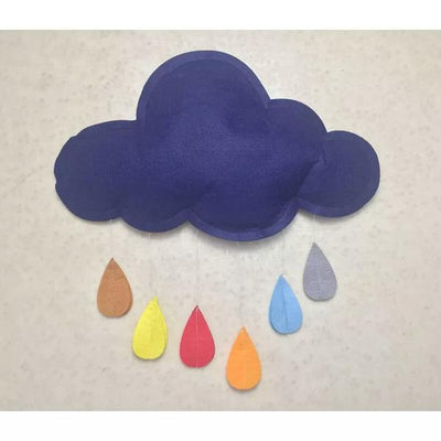 Baby Wall Hanging Decoration Cute Color Clouds Raindrops Newborns Photography Props Decoration-cheap vinyl backdrop fabric background photography