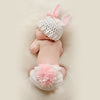 Newborn photography props bunny crochet knitting costumes hats and briefs-cheap vinyl backdrop fabric background photography