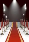 Stage background red carpet backdrop