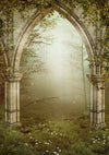 Photo Backdrop door Secluded Forest Photography fantastic Backdrop