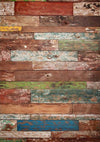 Vintage Color Wood Wall Rubber Floor Mat