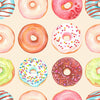 Sweet Candy Doughnut cakes Photo Backdrop pattern Birthday