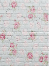 Flower white brick backdrop for children Valentine photos-cheap vinyl backdrop fabric background photography