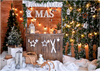 Xmas backdrops Christmas tree background with snow-cheap vinyl backdrop fabric background photography