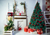 Red gift box background Christmas backdrops