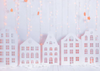 White building backdrop winter photo background