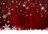 Red Christmas backdrop snowflake