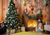 Living room Xmas backdrop with gift box Christms backgrond