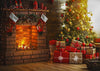 Christmas photography backdrop living room background
