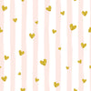 Golden love heart pattern backdrop for valentines day