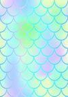 Summer mermaid theme color scale children backdrop-cheap vinyl backdrop fabric background photography
