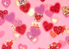 Valentine's day photography color love heart-cheap vinyl backdrop fabric background photography