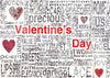 Valentine's day photography backdrop alphabet newspaper-cheap vinyl backdrop fabric background photography