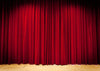 Red stage backdrop with spotlights-cheap vinyl backdrop fabric background photography