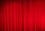 Red theater curtain backdrop for stage