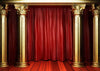 Golden pillar and red curtain backdrop for stage-cheap vinyl backdrop fabric background photography