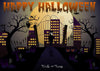 Halloween photography backdrop with full moon-cheap vinyl backdrop fabric background photography