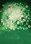 Dark green flower backdrop for baby photography-cheap vinyl backdrop fabric background photography
