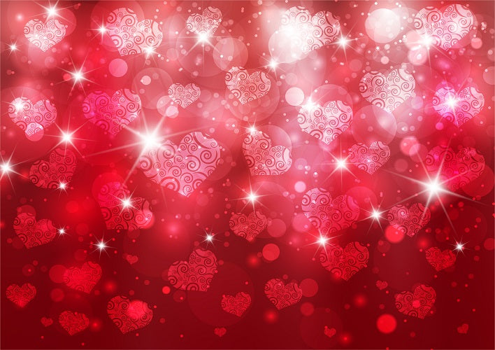 Bokeh red backdrop Valentine\'s Day background for sale - whosedrop