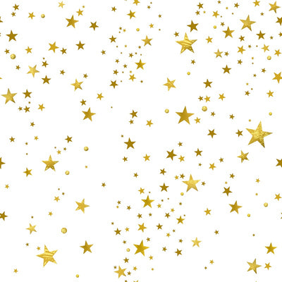 Golden five-pointed star pattern backdrop for children