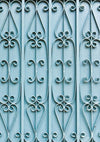 Vintage old iron blue door backdrop for children
