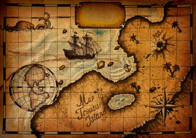 Shabby navigational chart photography backdrop for child-cheap vinyl backdrop fabric background photography