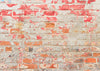 Old rustic brick wall backdrop shabby peeling brick