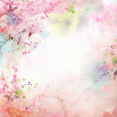 Pastel watercolor painted flower photo backdrop-cheap vinyl backdrop fabric background photography