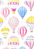 Colorful hot air balloon pattern backdrop for child