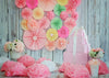 Baby girl cake smash backdrop for birthday-cheap vinyl backdrop fabric background photography