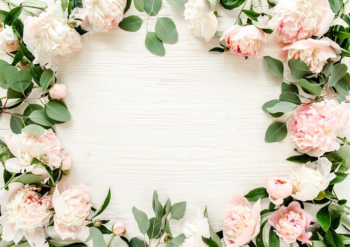 Shop Light Pink Flowers Backdrop For Valentines Day Photography