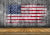 Independence day American flag backdrop grey wooden