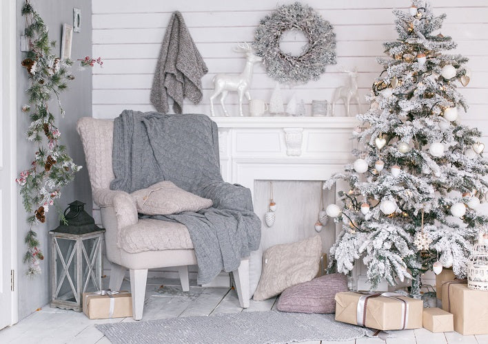 living room photography backdrop christmas background