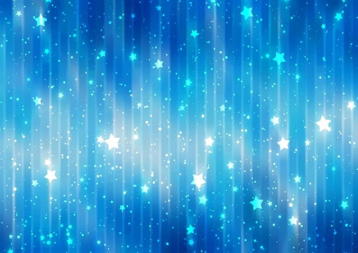 Blue bokeh backdrops with twinkling stars for sale - whosedrop