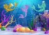 Summer backdrops underwater mermaid background-cheap vinyl backdrop fabric background photography